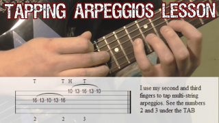 Tapping Arpeggios Lesson